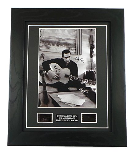 Johnny Cash Signed + Johnny Cash Film Cells Framed: Amazon.co.uk ...