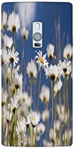 Snoogg Daisies Designer Protective Back Case Cover For One Plus Two