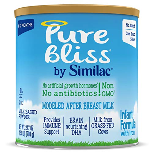 Pure Bliss by Similac Infant Formula, Modeled After Breast Milk, Non-GMO Baby Formula, 24.7 Ounces