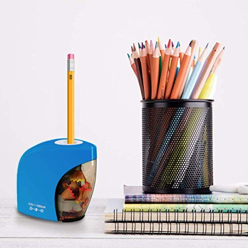 Electric Pencil Sharpener,Electrical Automatic Sharpener for NO.2 Pencils and Colored Pencils,Electric Pencil Sharpener with Auto Stop Feature for Home//School//Classroom//Office,USB and 2AA Batteries