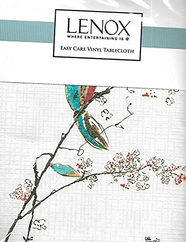 Lenox Where Entertaining Is Easy Care Vinyl Tablecloth (70 Inches Round, Chirp Bird)