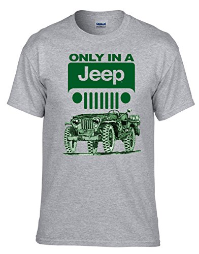 Jeep Fun Auto T-Shirt -378-Grau