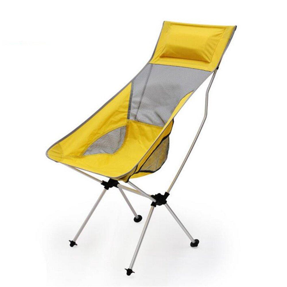 TUJHGF Im Freienstrand-Klubsessel-Ultra Heller Aluminiumklappstuhl Bequem und Bequem mit Kissen-Stuhl,C