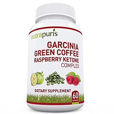 Nutrapuris Best '3-In-1' Garcinia Cambogia, Green Coffee Bean & Raspberry Ketones Extract - 60 Max Pure Capsules 100% Happiness Guarantee!