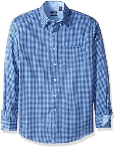 IZOD Men's Big and Tall Advantage Performance Non Iron Stretch Long Sleeve Shirt, Powder Blue, 3X-Large Tall (Powder Blue Shirt)