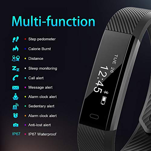 AIMIUVEI Fitness Tracker Smartwatch Reloj Fitness con 3 Correas De ...