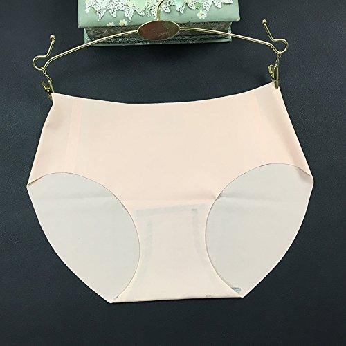 ZHUDJ Non Tachant Sous-Vêtements Féminins Sous-Vêtements Taille Basse, La Hanche Triangulaire Respirant Femme ? Rose Xl