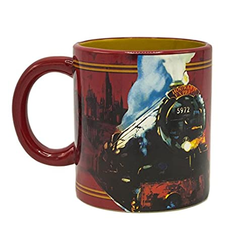 5af8661448 Amazon.com: Silver Buffalo HP11953H Harry Potter Hogwarts Express Ceramic  Mug with Spinner, 20-oz: Kitchen & Dining