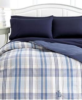 Lauren By Ralph Lauren Sundeck Pastel Blue Plaid Down Alternative Comforter,  FULL/QUEEN