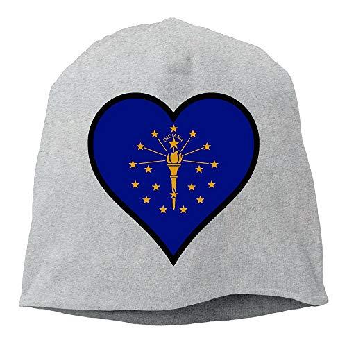diana State Flag Heart Beanie Skull Cap Winter Warm Knit Hats ()