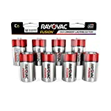 Best C Batteries - RAYOVAC C 8-Pack FUSION Premium Alkaline Batteries, 814-8LTFUSK Review