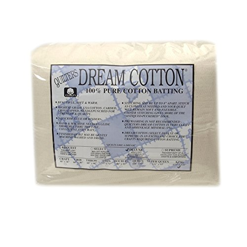 Quilter's Dream Natural Cotton Deluxe Batting (122in x 120in) King