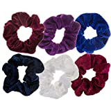 Hairstyling Accessories and Decorations Set / Kit / Lot of 6pcs Hair Scrunchies / Rubber Bands / Hairbands / Bobbles / Elastics / Ponytails Holders / Ties In Different Colours