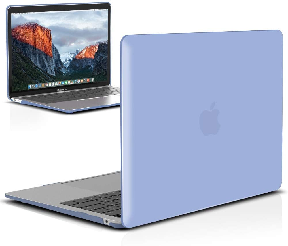 IBENZER MacBook Air 13 Inch Case 2020 2019 2018 New Version A2179 A1932, Hard Shell Case Cover for Apple Mac Air 13 Retina with Touch ID, Serenity Blue, MMA-T13SRL