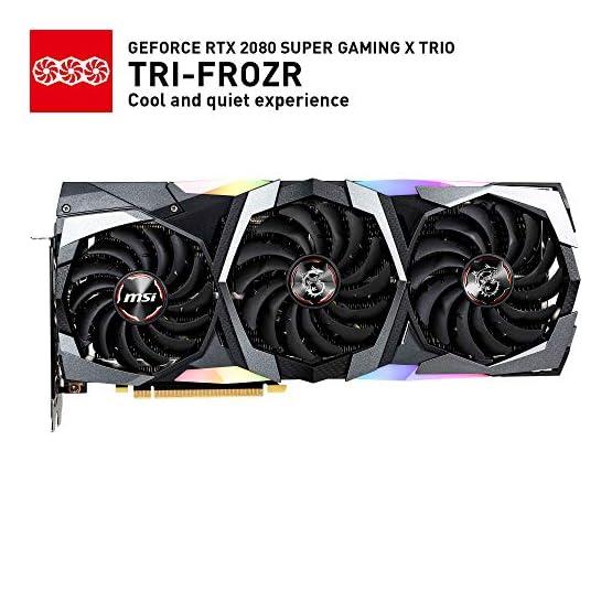 MSI Gaming GeForce RTX 2080 Super 8GB GDRR6 256-Bit HDMI/DP Nvlink Tri-Frozr Turing Architecture Overclocked Graphics… 51W1GzBVwKL. SS555