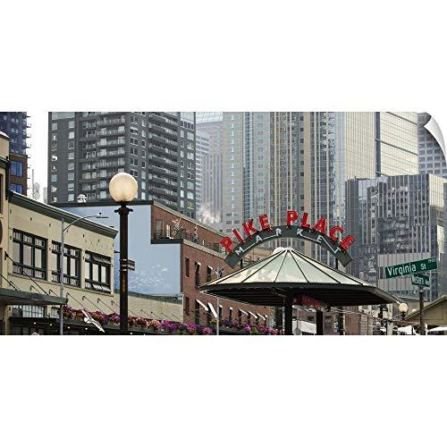 - CANVAS ON DEMAND Pike Place Market, Seattle, WA Wall Peel Art Print, 36