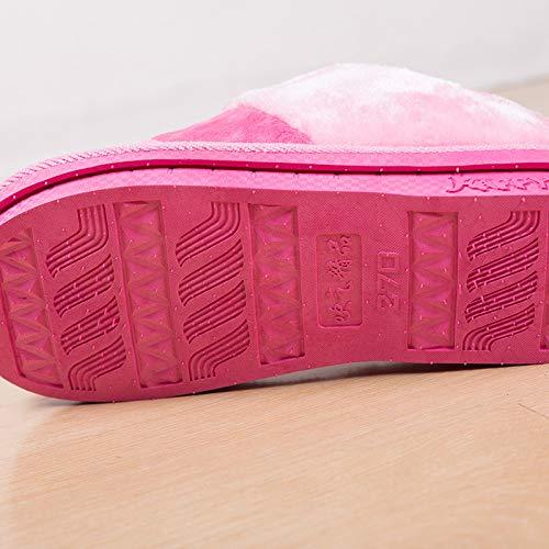 Accoppiano inclusive All Con Per A Cotone Scarpe Da Di E Spesse Casa Purple Invernali Colorate Donna Uomo Design Pantofole Righe PwY4zvxq