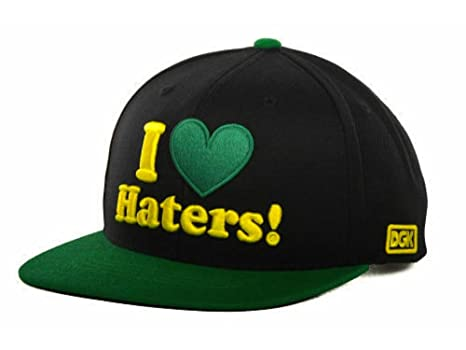 e71e1562739 ... hat 7f9cd 2f098  shop dgk dirty ghetto kids i love haters black green  yellow flat brim adjustable snapback d2c15