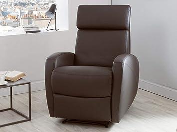 Avec Fauteuil Design Têtière Inclinable Relax Cuir Dlm Manuel En rBWdxoQCe
