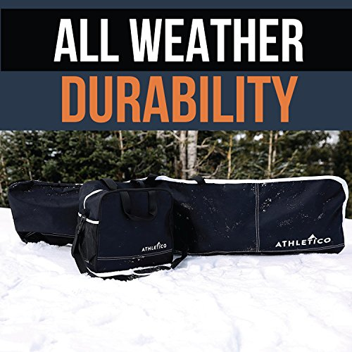 Athletico Two-Piece Snowboard and Boot Bag Combo Store /& Transport Snowboard Up to 165 CM and Boots Up To Size 13 Black Includes 1 Snowboard Bag /& 1 Boot Bag
