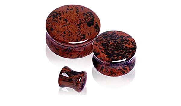 rm/_sp Saddle Plug Natural Mahogany Obsidian Stone