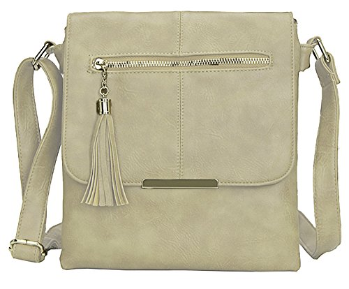 Cross Beige Handbag Trendy Size Design Shoulder Bag Body Messenger Medium 3 Womens Big Shop 0HSwF