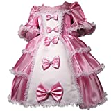 Dressy Daisy Girls' Vintage Victorian Princess Dresses Fancy Party Costume Pageant Dress Size 7-8 Pink