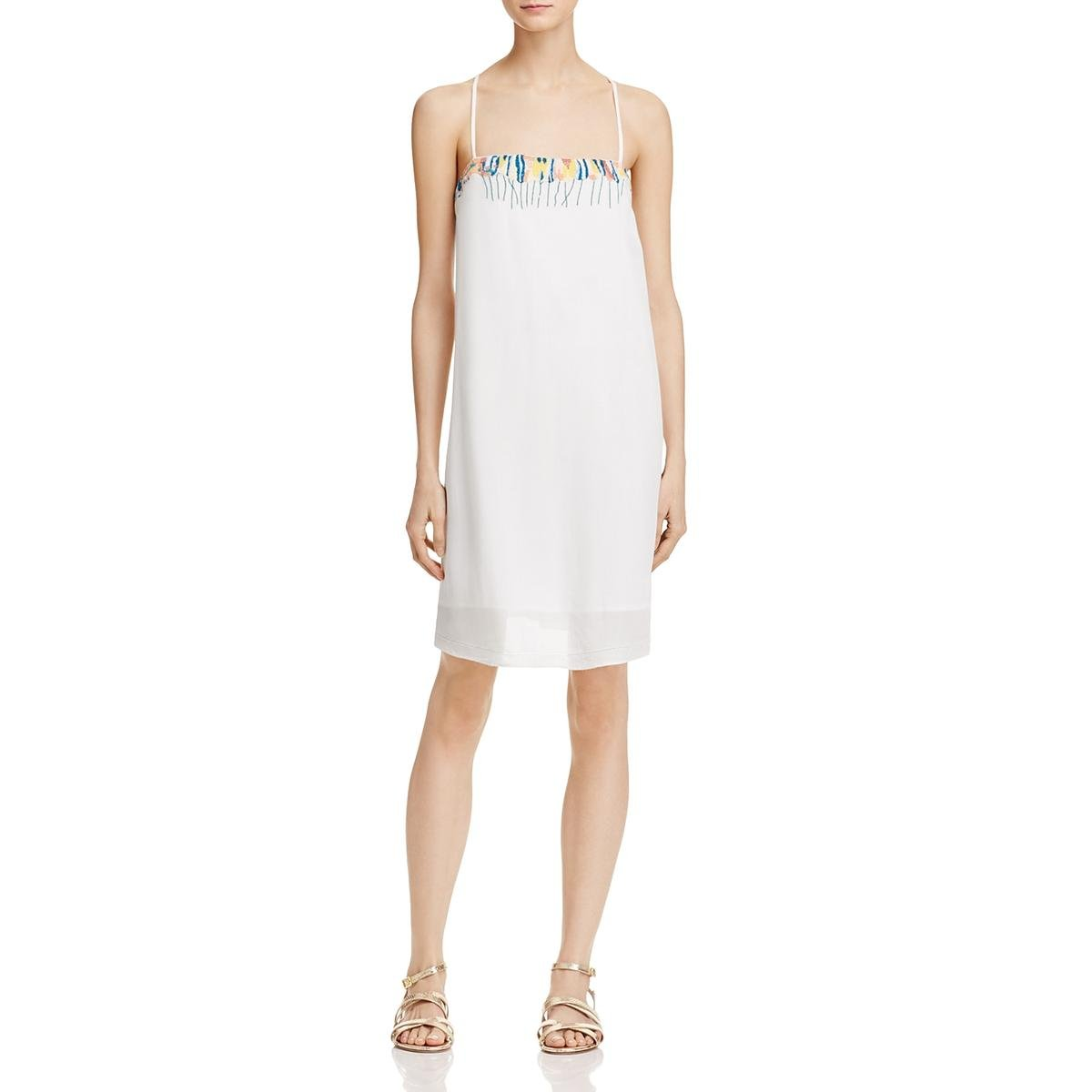 French Connection Women's Melissa Cotton Dress, Summer White/Multi, 6