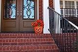 GCD-Austram Fiberclay Pumpkin with Face Planter, 12-Inch