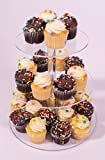 TJ Tech 3 Tier Round Clear Acrylic Wedding Dessert Cupcake Display Stand