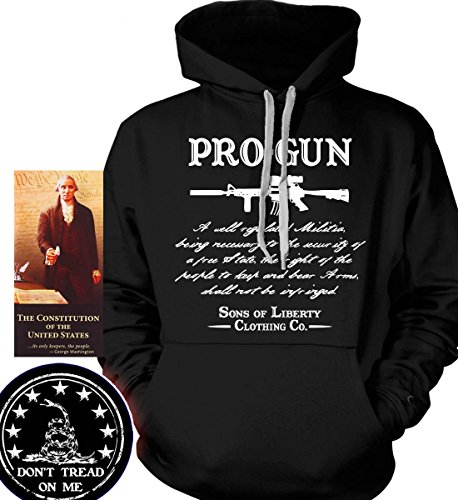 Sons of Libery Hoodie: Pro-Gun Second Amendment . Black/XL (Gun Sweatshirt)