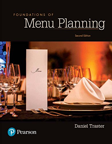 Foundations of Menu Planning (What's New in Culinary & Hospitality)