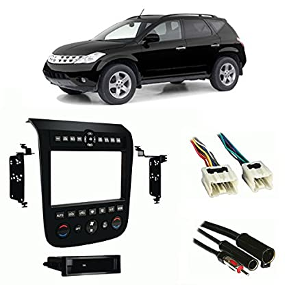Compatible with Nissan Murano 2003-2007 Multi DIN Stereo Harness Radio Install Dash Kit