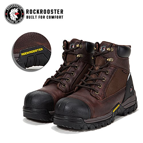 AT697PRO Shoes Toe AT872 Toe Kevlar Boots Brown Waterproof Safety At872 Composite Composite Men's Resistant Work ROCKROOSTER Puncture PFvSfS