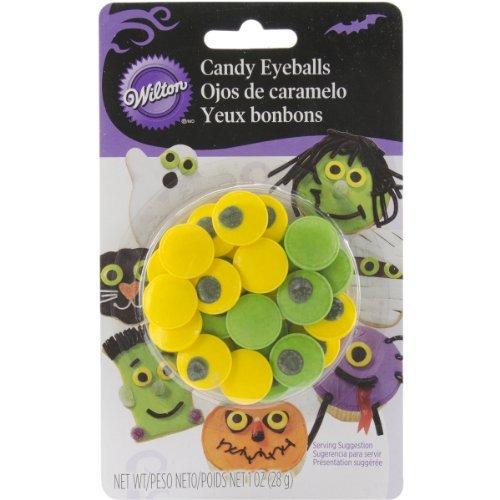 Wilton 710-0132 Halloween Spooky Candy Eyeballs, 1 oz (Eyeball Cupcakes Halloween)