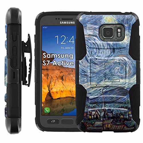 Click to buy Samsung Galaxy [S7 Active] Armor Case [Mobiflare] [Black/Black] Armor Phone Case [Screen Protector INCLUDED] - [Starry Night] - From only $15.95