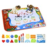 """Conthfut Doodle Drawing Mat, Water Doodle Mat 39.5"""" X 27.5"""" in 9 Colors Aqua Magic Mat Educational Toys Gift for Boy Girl Toddlers Age 1-12"""