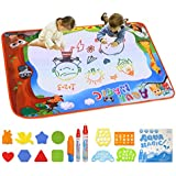 """Doodle Drawing Mat, Conthfut Water Doodle Mat 39.5"""" X 27.5"""" in 9 Colors Aqua Magic Mat Educational Toys for Boy Girl Toddlers Age 1- 12"""
