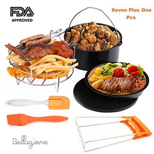 Deep Universal Barrel,Baking Dish Pan,Grill,Pot Pad, Pot Rack with Mat, by Bellagione