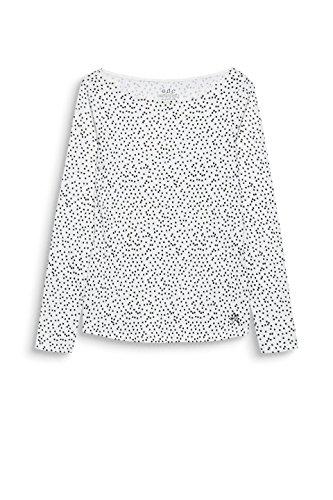 a edc by White 110 Maniche Esprit Lunghe Bianco Donna Off Maglia PPtRaq