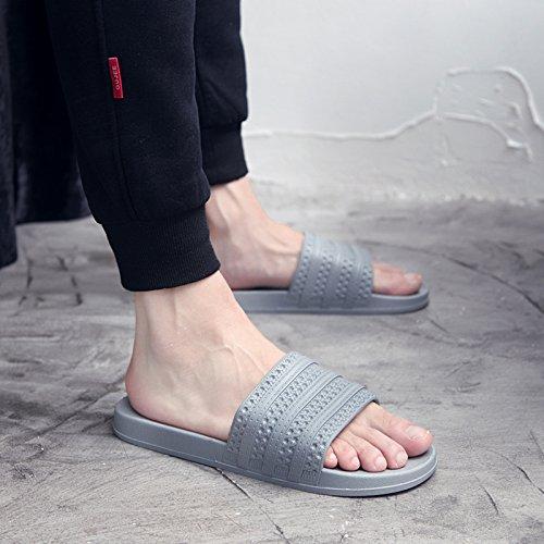 di estate Q ciabatte un bagni 44 Home Fankou dello paio pavimento nbsp;Pantofole spessore da morbido donne pantofole home chiaro indoor maschio 43 cool soggiorno antiscivolo grigio di bagno twwaTpqz