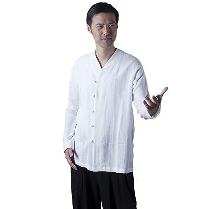 8e4a3d498 Amazon.com : BlueSkyDeer Unisex's Low Collar Meditation Shirt Kung ...