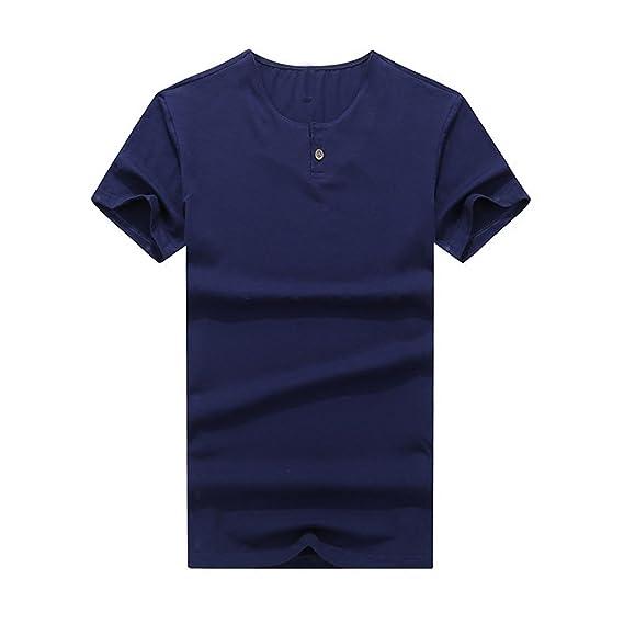 Camisas de Running para Hombre,BBestseller Hombre Casual Slim Camisetas Personalizadas Manga Corta Blusas Tops