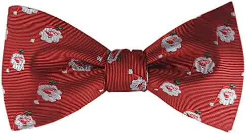 5a30d6918773 KOOELLE Christmas Bow Ties for Mens Novelty Patern Jacquard Self Bowtie -  Red Series