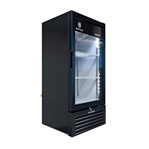 Beverage Air MT10-1B Marketeer Series Refrigerated Merchandiser, Single Section with 7.28 Cubic Feet Capacity, Black Exterior