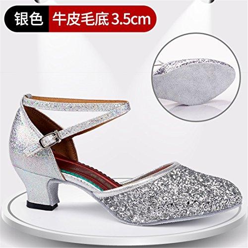 Heel High Silver 3 Schuhe 5cm mit Interior Wxmddn Tanzschuhe Dance Schuhe Latin qX4nSwY
