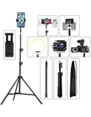 """Phone Tripod 22.8"""" to 67"""", Pixel Selfie Tripod Adjustable Smartphone Tripod for Recording Videos Streaming Vlogging or Live Broadcasting"""