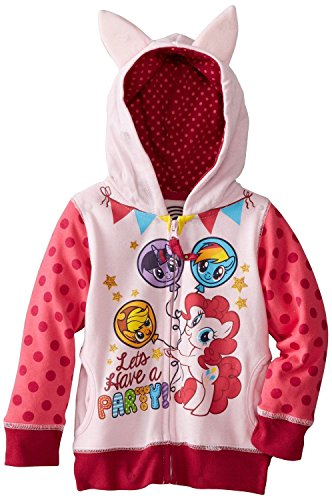 FREEZE Little Girls' My Little Pony Lets Have A Party Toddler Hoodie, Pink Multi, 3T