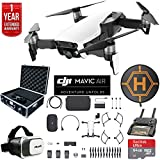 DJI Mavic Air Fly More Combo Drone Combo 4K Wi-Fi Quadcopter with Remote Deluxe Fly Bundle with Hard Case VR Goggles Landing Pad 64GB microSDXC Card and 1 Year Warranty Extension (Arctic White)