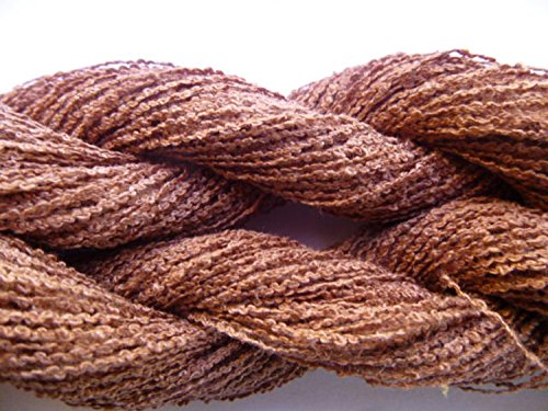 Fawn Brown Cotton Blend Crochet & Knitting Lace Weight (Angora Blend Coat)